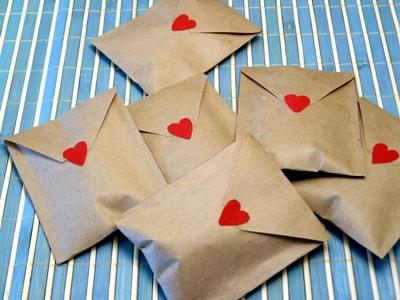 Как сделать конверт из крафт бумаги своими руками