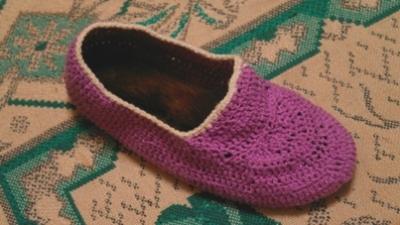 Вязаные тапочки крючком для девочки 5 лет