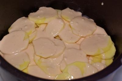 Картофельная запеканка с мясом в мультиварке