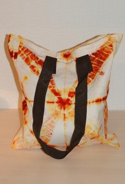 Пляжная сумка в технике Tie - Dye